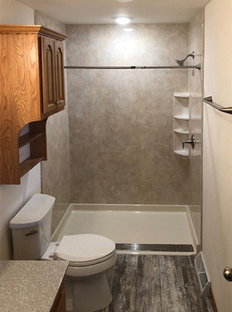 Image of barrier free shower by Bath Fixer of La Crosse.