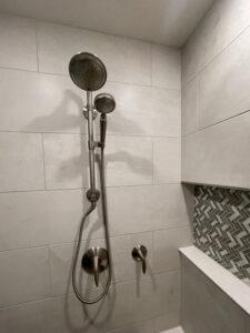 Image of hydro rail in shower by Bath Fixer of La Crosse